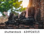 mahathat temple in ayutthaya... | Shutterstock . vector #634926515