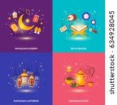 ramadan kareem concepts set... | Shutterstock .eps vector #634928045