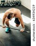 handsome weightlifter preparing ... | Shutterstock . vector #634934219