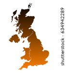 map of united kingdom | Shutterstock .eps vector #634942289