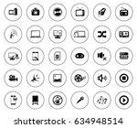 multimedia icons | Shutterstock .eps vector #634948514