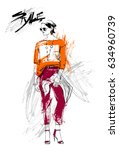 shopping sale fashion... | Shutterstock .eps vector #634960739