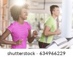 young people exercisinng a... | Shutterstock . vector #634966229
