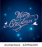 christmas decoration deign.... | Shutterstock .eps vector #634966304