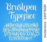 brushpen typeface. handwritten... | Shutterstock .eps vector #634978289