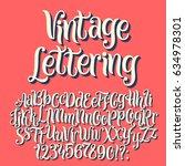 vintage lettering vector font... | Shutterstock .eps vector #634978301