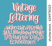 vintage lettering vector font... | Shutterstock .eps vector #634978325