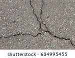Texture With Cracks On Asphalt...