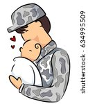illustration of a father in...   Shutterstock .eps vector #634995509