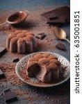 chocolate panna cotta  ... | Shutterstock . vector #635001851