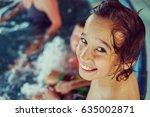 children on the pool | Shutterstock . vector #635002871