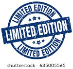 limited edition blue round... | Shutterstock .eps vector #635005565