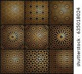 set of islamic oriental...   Shutterstock .eps vector #635018024
