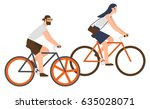 flat design people riding... | Shutterstock .eps vector #635028071