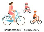 flat design people riding... | Shutterstock .eps vector #635028077