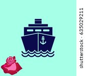 ship icon  vector illustration. ... | Shutterstock .eps vector #635029211
