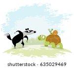 vector illustration of a three... | Shutterstock .eps vector #635029469