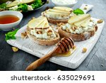 fresh sweet pears salad and... | Shutterstock . vector #635029691