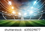 lights at night and stadium 3d... | Shutterstock . vector #635029877