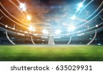 stadium in lights and flashes... | Shutterstock . vector #635029931
