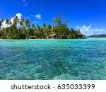 small island  also called motu  ... | Shutterstock . vector #635033399