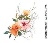 illustration of beautiful... | Shutterstock . vector #635043695