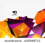 3d triangles geometric vector... | Shutterstock .eps vector #635048711