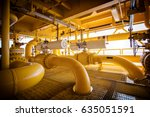 oil and gas pipe lines and... | Shutterstock . vector #635051591