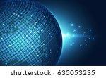 abstract digital technology... | Shutterstock .eps vector #635053235