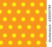 sun cute pattern seamless...   Shutterstock .eps vector #635054789