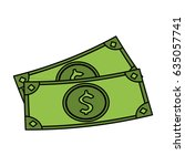 color image cartoon set bills... | Shutterstock .eps vector #635057741