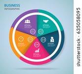 modern infographics process ... | Shutterstock .eps vector #635058095