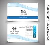 business card design set.... | Shutterstock .eps vector #635058899