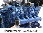 diesel engine big power painted ... | Shutterstock . vector #635060081