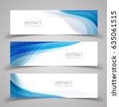 set of banner templates. ... | Shutterstock .eps vector #635061515