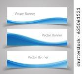 set of banner templates. ... | Shutterstock .eps vector #635061521