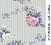vector square floral seamless... | Shutterstock .eps vector #635062829