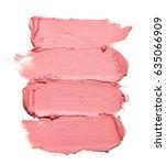 pink makeup smear of lip gloss...   Shutterstock . vector #635066909