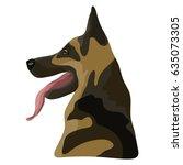 icon with sheepdog. vector... | Shutterstock .eps vector #635073305