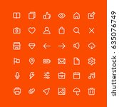 user interface icons | Shutterstock .eps vector #635076749