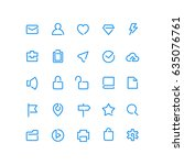 one line outline icons