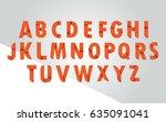 vector of alphabet with orange... | Shutterstock .eps vector #635091041