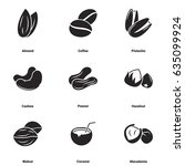 icons for theme nuts. white... | Shutterstock .eps vector #635099924