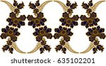 hungarian folk art  | Shutterstock .eps vector #635102201