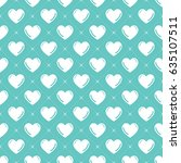 hearts pattern. valentines day... | Shutterstock .eps vector #635107511