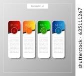 infographic button template... | Shutterstock .eps vector #635111267