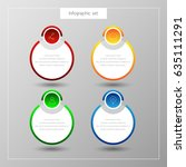 infographic button template... | Shutterstock .eps vector #635111291