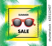 "ready made design ""summer sale"" ... | Shutterstock .eps vector #635112407"
