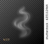 transparent smoke on dark... | Shutterstock .eps vector #635112464