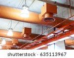 air conditioner ventilation... | Shutterstock . vector #635113967